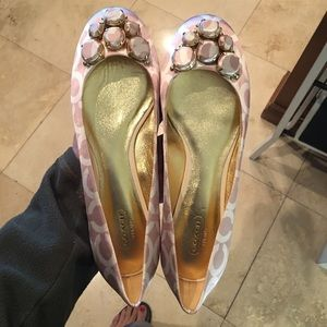 COACH SIZE 9B SATIN FLATS BRAND NEW